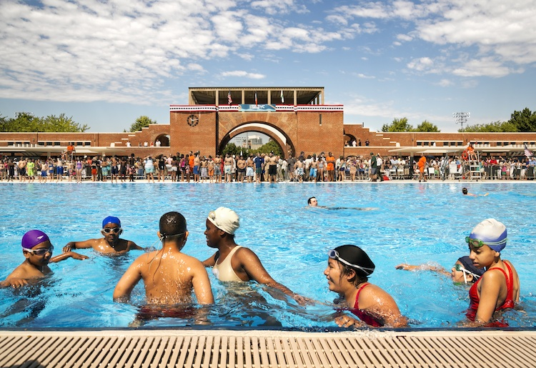 McCarren Pool Opening Day